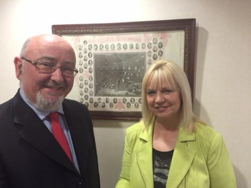Caoimhghín Ó Caoláin TD and Sandra McLellan TD