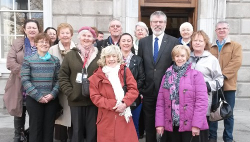 Gerry Adams pictured with Louth carers