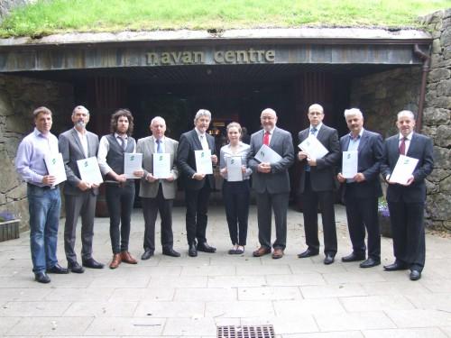 Sinn Féin representatives at at Navan Fort and Interpretative Centre