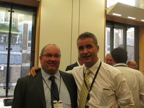 Senator Trevor Ó Clochartaigh with Angus Brendan McNeil MP who represents the Western Isles of Scotland