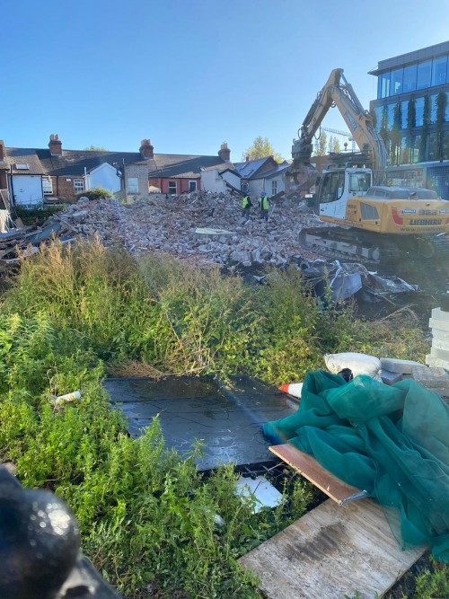 Demolition of the O'Rahilly house