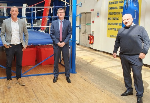 Chris Andrews meets with Fergal Carruth and Ciaran Kirwan of the IABA