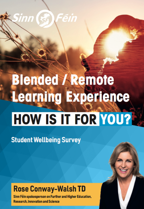 Rose Conway-Walsh TD launches student wellbeing survey
