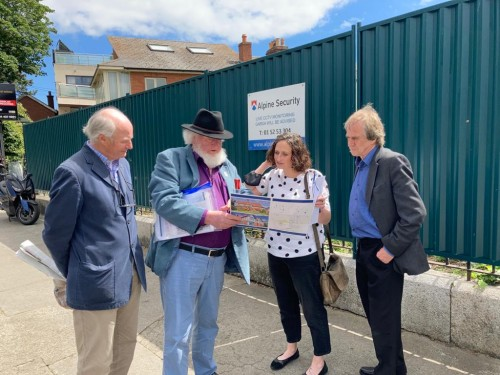 Lynn Boylan at the site of the home of The O'Rahilly