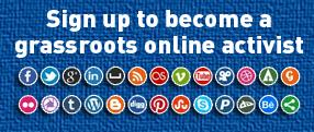 Online Activist button text