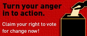 Turn anger in to action button