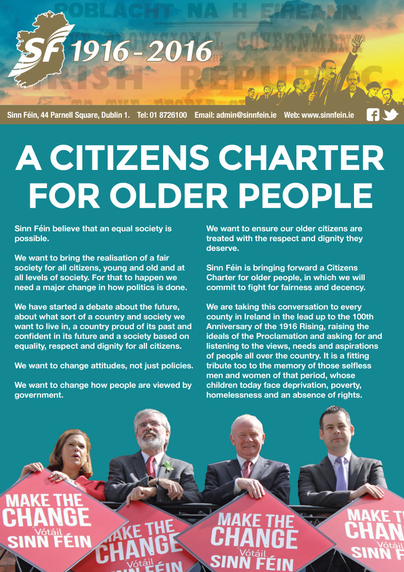 Citizens Of Beauty: Citizens Charter For Older People
