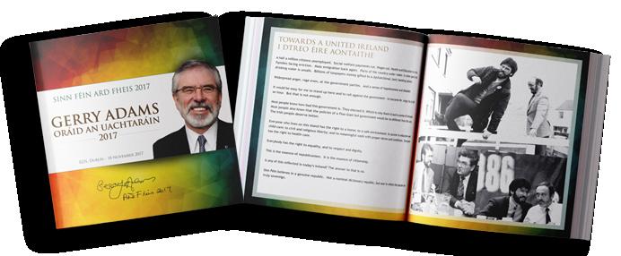 Gerry Adams 2017 Final Ard Fheis Book