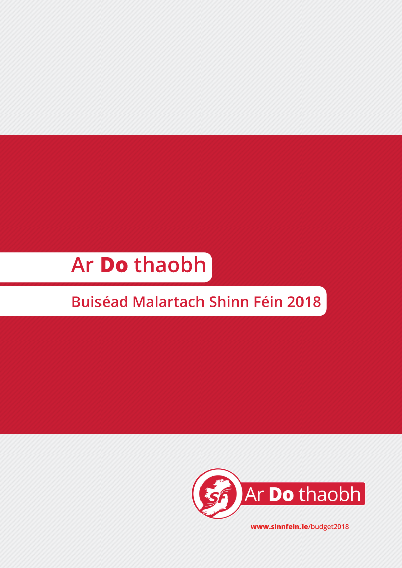 Ar do thaobh - Buiséad Malartach Shinn Féin 2018
