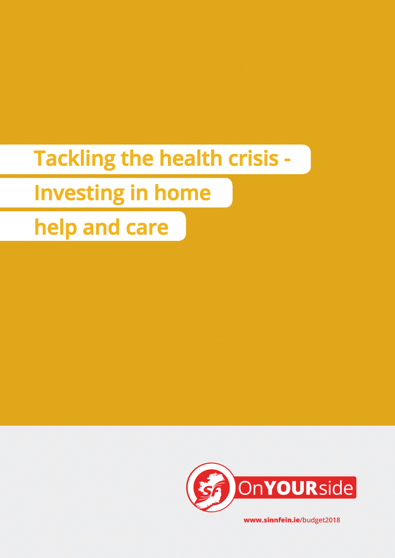 Tackling the health crisis - Investing in home help and care