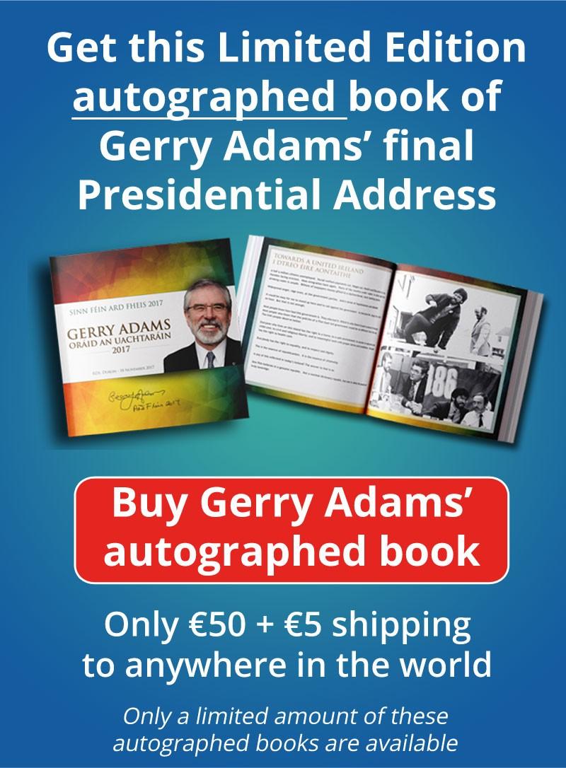 Gerry Adams Book Adrf Fheis 2017