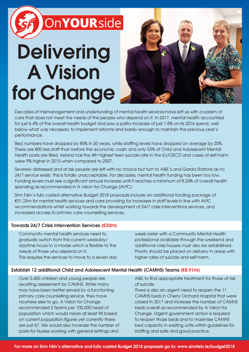 Delivering A Vision for Change - Mental Health document